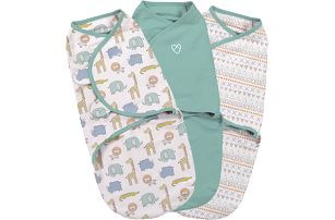 SUMMER INFANT Zavinovačka SwaddleMe S safari sada 3ks