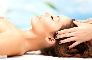 Masáž vlasové pokožky a obličeje