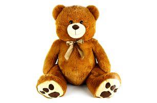 Obrovský plyšový medvěd s mašlí 100 cm