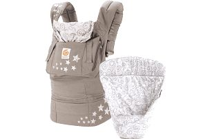 ERGOBABY Set Bundle Easy snug nosítko+vložka – Original Galaxy Grey