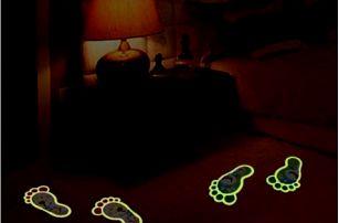 Svítící stopy - samolepky na podlahu