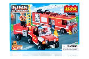 COGO FIRE FIGHTER Stavebnice Mobilní požární stanice - 324 ks