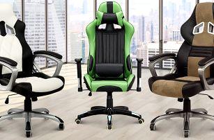 Designové kancelářské židle s nosností až 150 kg