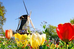 Výlet za holandskými tulipány i do Amsterdamu