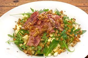Kuskus se slaninou a sýrem či hermelínem z grilu