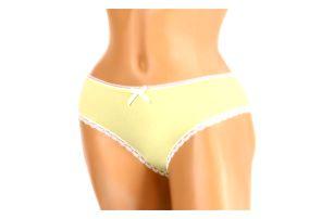 Bavlněné dámské kalhotky s mašličkou žlutá