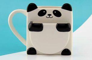 Roztomilý hrnek na sušenku Panda