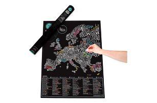 Stírací mapa Gourmet