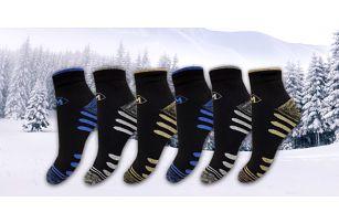 Balení 6 párů funkčních termo ponožek