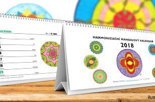 Harmonizační mandalový kalendář na rok 2018