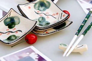 Dárková porcelánová sada sushi nádobí pro 4 osoby