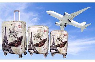 Sada 3 odolných skořepinových kufrů všech velikostí