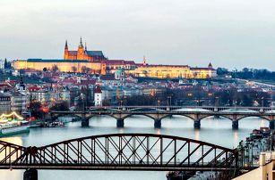 Pobyt v centru Prahy s výhledem na Pražský hrad, dítě zdarma