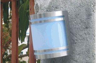 Tuin 1524 Solární zahradní nástěnné LED svítidlo z nerez oceli Garth