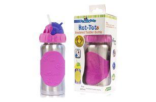 PACIFIC BABY Hot-Tot Termoska s brčkem 260 ml růžová