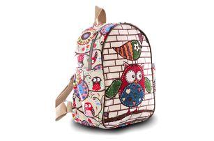 Fashion Icon Dámský batoh Fairy Tail sova lněný