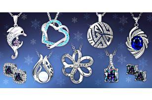 Třpytivé šperky s krystaly Swarovski a zirkony - náhrdelníky a náušnice
