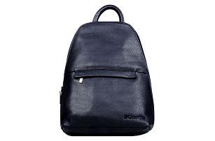Kožený batoh 2v1 černá