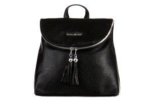 Koženkový batoh se střapci černá