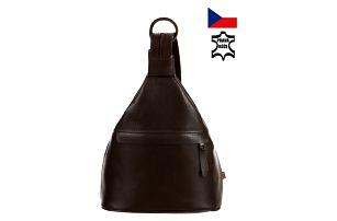 Kožený batoh/kabelka 3v1 - Česká výroba tmavě hnědá