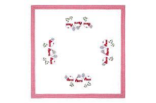 Forbyt Vánoční ubrus Chaloupky, 85 x 85 cm, 85 x 85 cm
