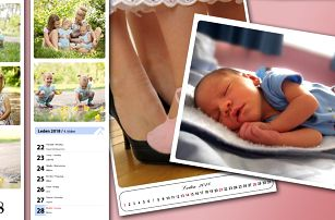 Fotokalendáře z vlastních fotografií, výběr z více druhů