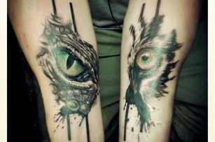 Tetování o rozměrech 10 × 10 cm na Praze 7