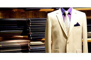 Záloha na prvotřídní pánský oblek šitý na zakázku