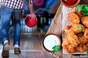 Bowlingová dráha pro 8 hráčů a kilo miniřízků