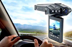 Minikamera HD DVR s otočným LCD displejem do auta