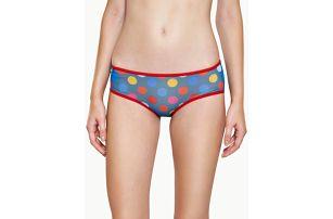 Kalhotky Happy Socks modré mesh s barevnými puntíky vzor Big Dot Barevná