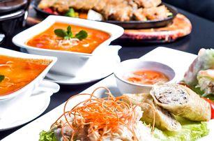 Autentické vietnamské menu o 4 chodech pro dva
