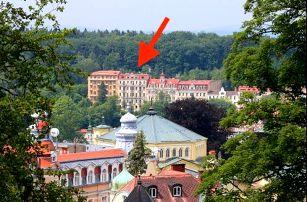 Mariánské Lázně - hotel kousek od kolonády s léčebnými procedurami a polopenzí