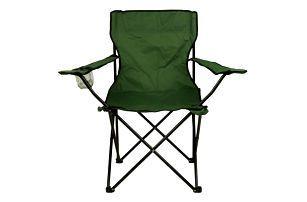Divero 53 Skládací židle s držákem - zelená