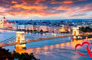 Valentýn v Budapešti: 4 dny se snídaní a termály