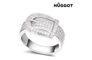 Prsten potažený rhodiem se zirkony Belt Hûggot