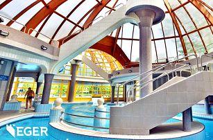 Maďarský Eger v duchu lázeňského odpočinku: hotel s neomezeným wellness a polopenzí + celodenní vstupenka do termálů