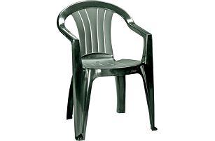 CURVER SICILIA 41471 Zahradní plastová židle - tmavě zelená