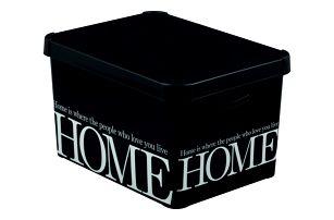 CURVER 32992 Plastový úložný box DECO -L - HOME