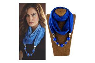 Dámský etno šátek s korálemi Nasha
