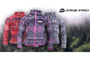 Hřejivé dětské vzorované mikiny Alpine Pro