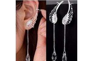Náušnice Andělská křídla s kamínkem