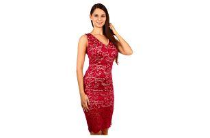 Exkluzivní šaty s krajkou červená