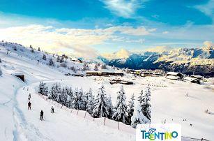 5denní lyžařský balíček se skipasem   Monte Bondone   Hotel Augustus***   Doprava, ubytování, polopenze a skipas v ceně