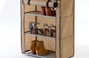 Béžový textilní třípatrový botník Compactor Shoes - doprava zdarma!
