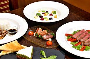 Hvězdné 5chodové degustační menu na Vinohradech