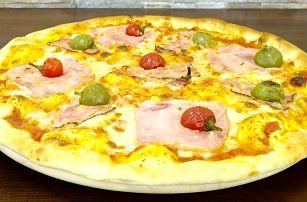 1 nebo 2 křupavé pizzy dle vašeho výběru