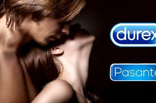 Zásoba kondomů Durex a Pasante