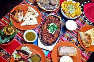 Mexické menu: nachos, burrito i quesadilla
