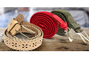 Dámské elegantní elastické nebo perforované pásky